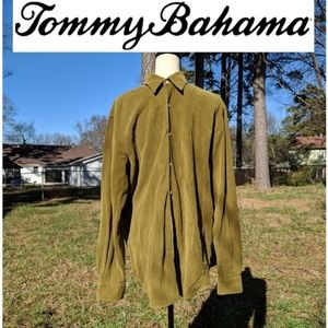 Tommy Bahama Silk Button Down Shirt Size L